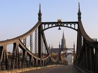 Ulm Neutorbrücke mit dem Ulmer Münster