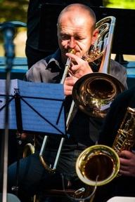 herzophonics Martin Barfuß an der Baßposaune bei FÜ-Jazz